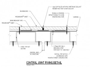 Control Joint Fixing Detail