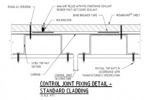 Control Joint Fixing Detail - Steel Frame Standard Cladding