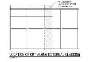External Cladding Sheet Cut Details