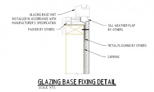 Glazing Base Fixing Detail