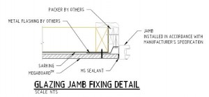 Glazing Jamb Fixing Detail