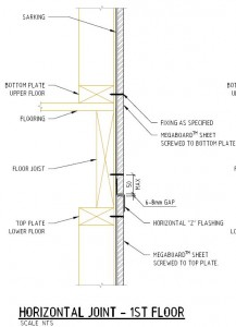 Horizontal Fixing Joint - 1st Floor