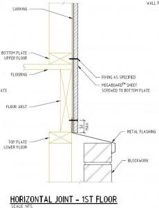 Horizontal joint - 1st floor to Block Work