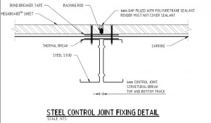 Steel Control Joint Fixing Detail