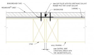 Timber Control Joint Fixing Detail