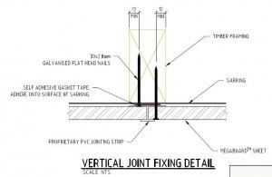 Vdrtical Fixing Joint PVC Joiner