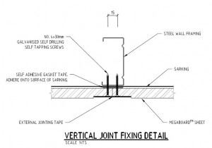 Vertical Fixing joint steel frame